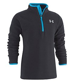 Under Armour Boys' 4-7 Solid Logo Quarter Zip Top
