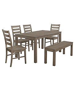 W. Designs Homestead 6-Piece Wood Dining Set