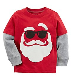 Carter's Boys' 2T-4T Long Sleeve Santa Tee