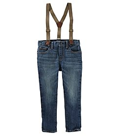 Oshkosh B' Gosh Boys' 4-8 Slim Fit Suspender Jeans