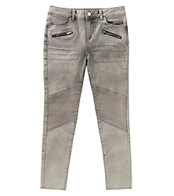 Calvin Klein Girls' 7-16 Zippered Skinny Jeans
