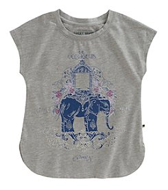 Lucky Brand Girls' 4-16 Elephant Graphic Tee