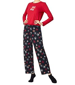 HUE Give Kindness Knit Pajama and Socks Set