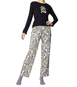 HUE Let it Snow Knit Pajama and Socks Set
