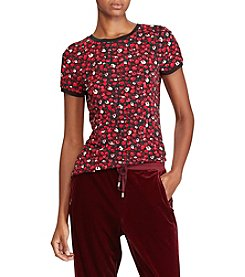 Lauren Ralph Lauren Floral Stretch Jersey Top