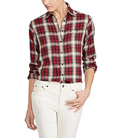 Lauren Ralph Plaid Pocket Shirt