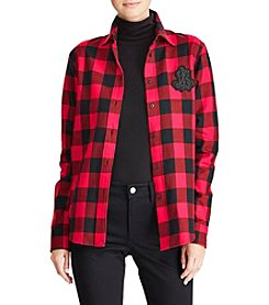 Lauren Ralph Lauren Plaid Crest Shirt
