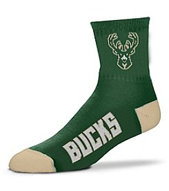 For Bare Feet NBA® Milwaukee Bucks Men's 501 Quarter Length Socks
