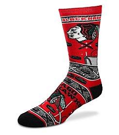 For Bare Feet NHL® Chicago Blackhawks Men's Graphic Crew Socks