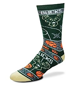 For Bare Feet NBA® Milwaukee Bucks Men's Graphic Crew Socks