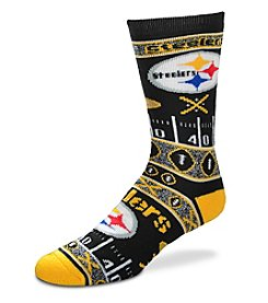For Bare Feet NFL® Pittsburgh Steelers Men's Graphic Crew Socks