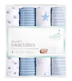 Aden & Anais Baby Boys' Swaddle 4 Pack