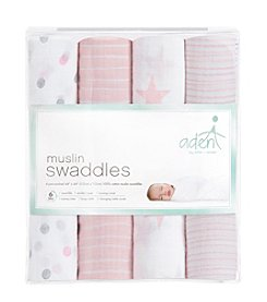 Aden & Anais Baby Girls' Swaddle 4 Pack