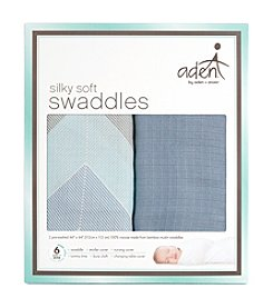 Aden & Anais Baby Boys' Silky Soft Swaddle 2 Pack