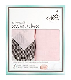 Aden & Anais Baby Girls' Silky Soft Swaddle 2 Pack