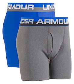 Under Armour Boys' 8-20 2 Pack Solid Performance Boxers