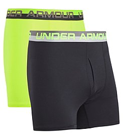 Under Armour Boys' 8-20 2-Pack Solid Performance Boxerjock Briefs