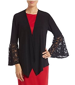 R&M Richards Lace Bell Sleeve Shrug