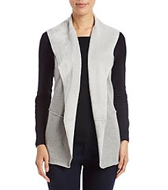 Cupio Raw Edge Open Front Vest