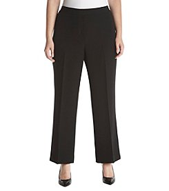 Kasper Plus Size Pleat Detail Stretch Pants