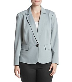 Kasper Plus Size Stretch Crepe Notch Lapel Jacket