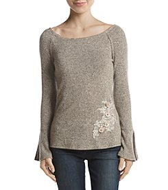 A. Byer Embellished Off Shoulder Top