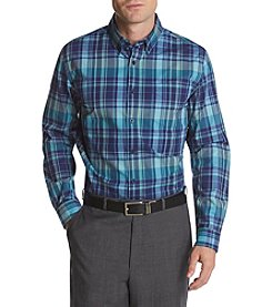 John Bartlett Consensus Men's Woven Plaid Stretch Button Down