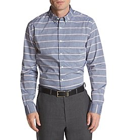 John Bartlett Consensus Men's Woven Striped Stretch Button Down