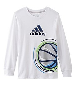 adidas Boys' 2T-7X Long Sleeve Basketball Tee