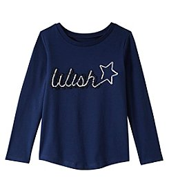 Carter's Girls' 4-8 Long Sleeve Wish Tee