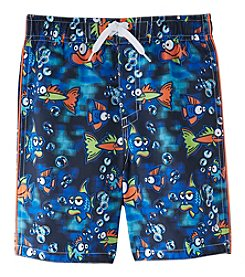 Exertek Boys' 4-7 Fish Swim Trunks