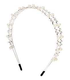 Twig & Arrow Accessories Multi Faux Pearl Split Headband