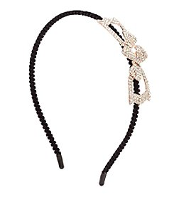 Twig & Arrow Accessories Multi Stone Velvet Wrap Headband