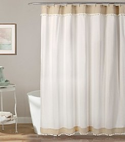 Lush Decor Adelyn Pompom Shower Curtain
