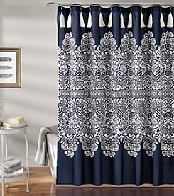 Lush Decor Boho Damask Shower Curtain