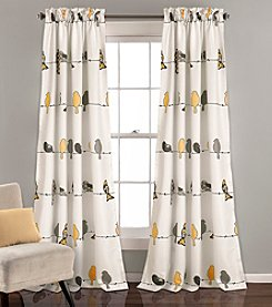 Half Moon Rowley Birds Set of 2 Room Darkening Window Curtains
