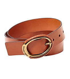 MICHAEL Michael Kors Leather Belt With Buckle