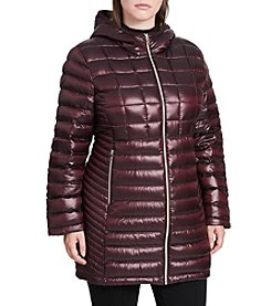 Calvin Klein Plus Size Packable Down Hooded Jacket