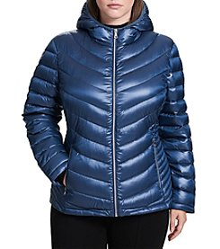 Calvin Klein Plus Size Packable Down Short Jacket