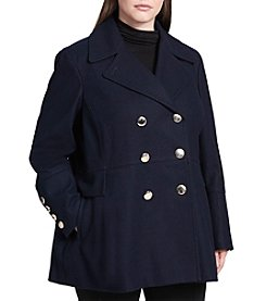 Calvin Klein Plus Size Double Breasted Peacoat