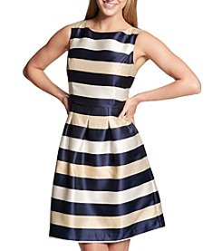 Tommy Hilfiger Vertical Striped Fit And Flare Dress