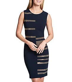 Tommy Hilfiger Gold Studded Stripe Detail Dress