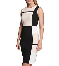 Tommy Hilfiger Colorblock Pattern Sheath Dress