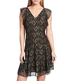 Tommy Hilfiger Floral Mesh Lace Dress