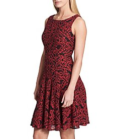 Tommy Hilfiger Floral Lace Fit And Flare Dress
