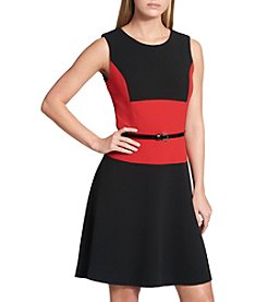 Tommy Hilfiger Belted Colorblock Dress