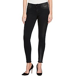 William Rast Perfect Skinny Foil Metallic Detail Jeans