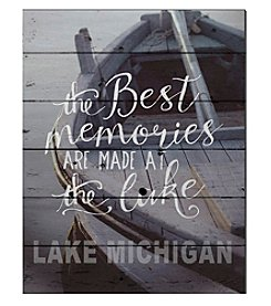 Kindred Hearts Best Memories Lake Michigan Sign