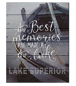 Kindred Hearts Best Memories Lake Superior Sign