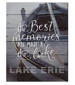 Kindred Hearts Best Memories Lake Erie Sign